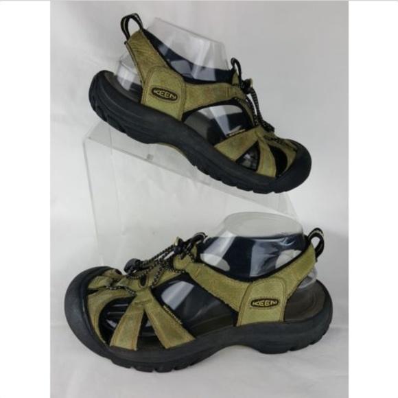 b69fea6bd70f Keen Shoes - Keen Size 7.5 Women s Green Leather Sport Sandal